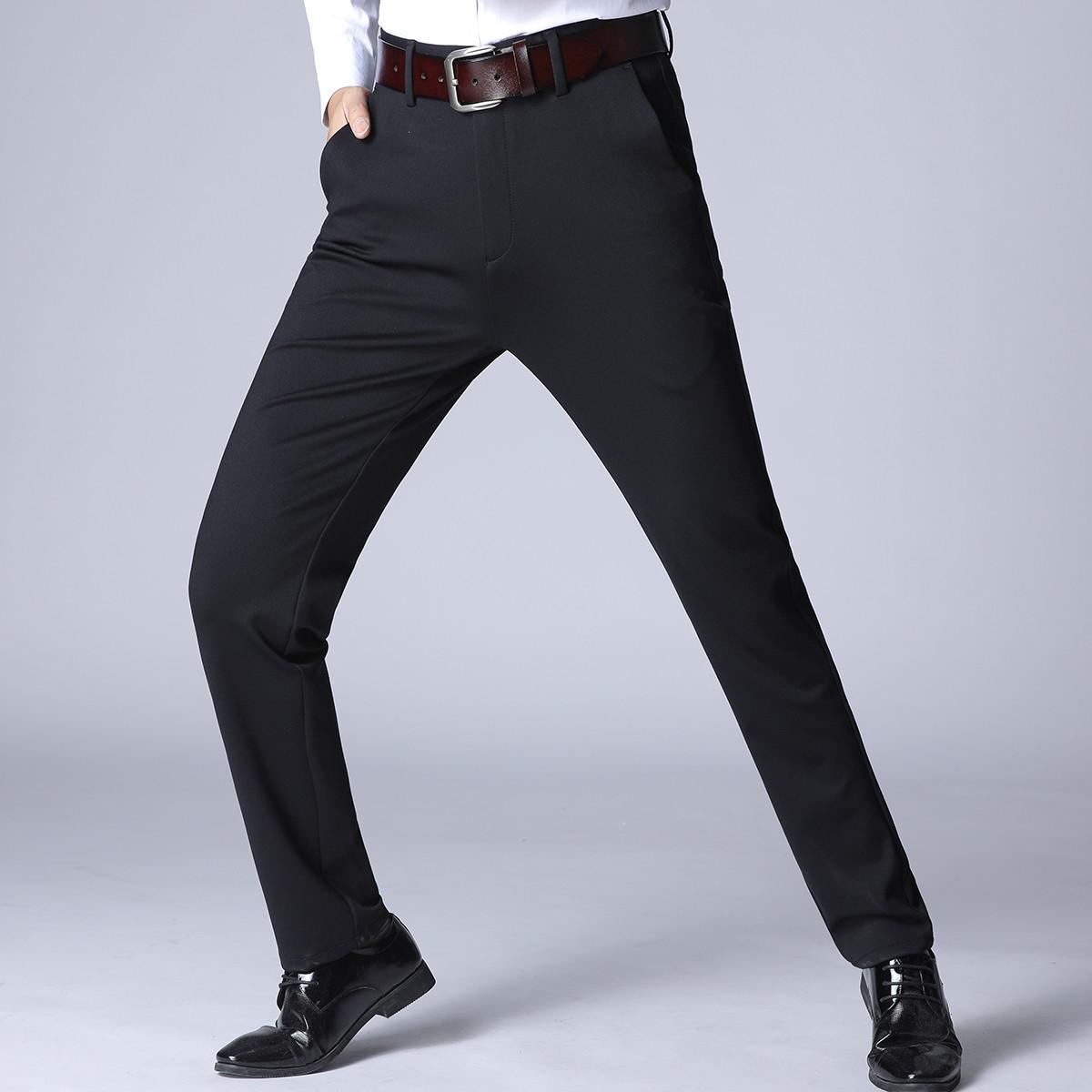 鳄鱼恤鳄鱼恤专柜款男裤子秋冬商务弹力修身休闲裤男裤603C19101302