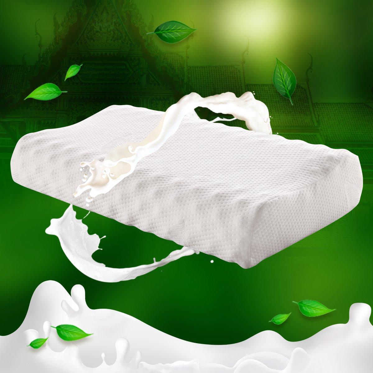 泰国进口天然乳胶按摩枕 针织外套 枕头 乳胶枕