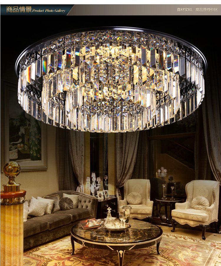 客厅水晶吸顶灯
