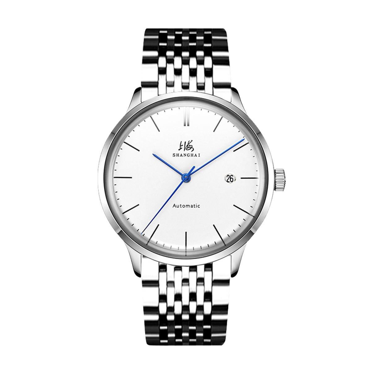 上海【畅销】上海手表全自动机械表简约时尚男表日历显示商务男士手表SH-A792-5-3-1