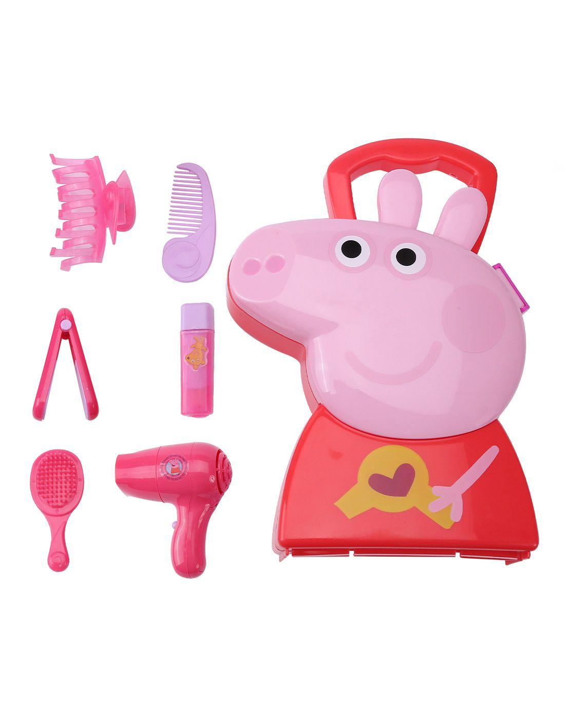 小猪佩奇 角色扮演系列玩具 造型师手提盒