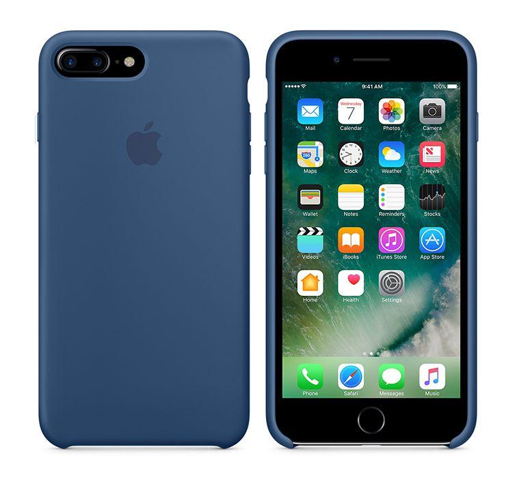 苹果原装iphone7plus手机壳5.5深蓝+支架图片