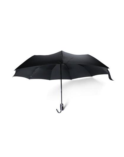 euro schirm德国伞纯黑商务麋皮手柄自动伞