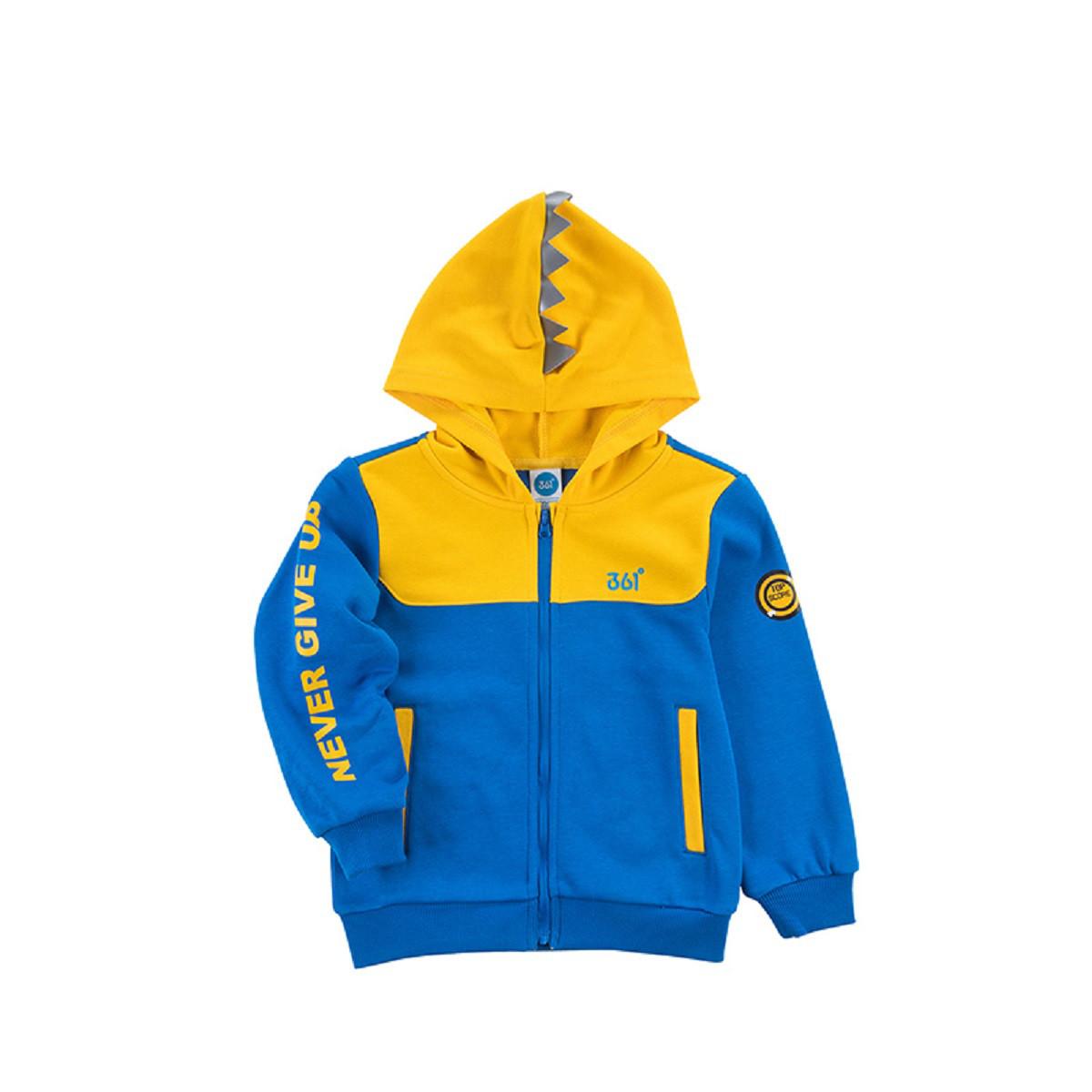 361°361度童装连帽运动休闲百搭针织外套男童外套K51814403-3