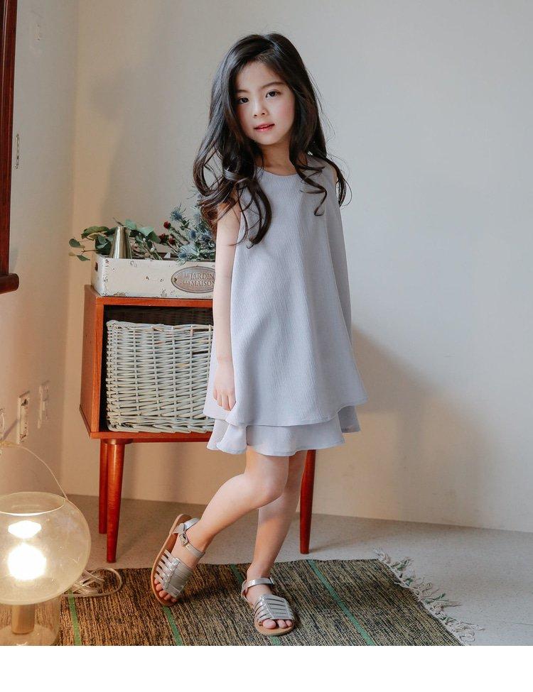 梭织双层连衣裙
