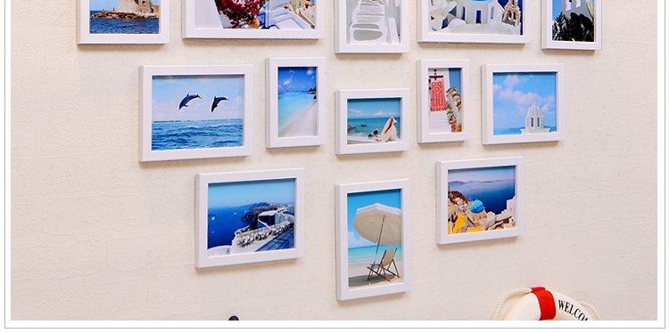 20框结婚心形照片墙创意墙上相框挂墙组合照片墙