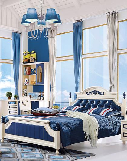 儿童床男孩单人床女孩公主床实木1.5米1.2小学生儿童家具套装组合图片