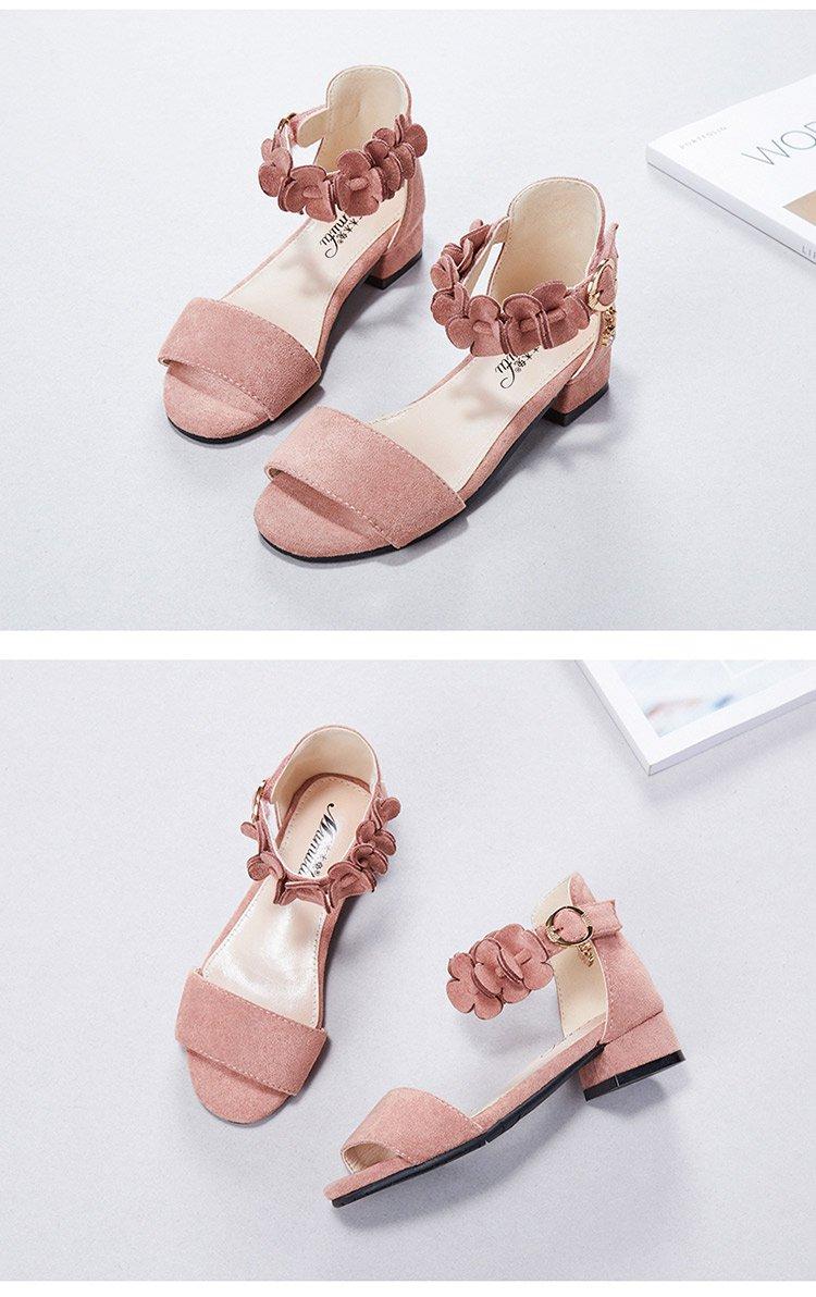 童鞋女童凉鞋2018新款儿童公主鞋韩版女孩夏季露趾高跟鞋子