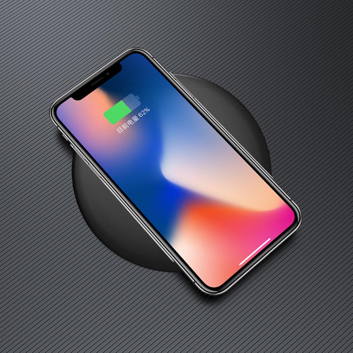 无线充电器 苹果iphonex/8plus 三星s8s7手机充电器苹果安卓无线充电图片