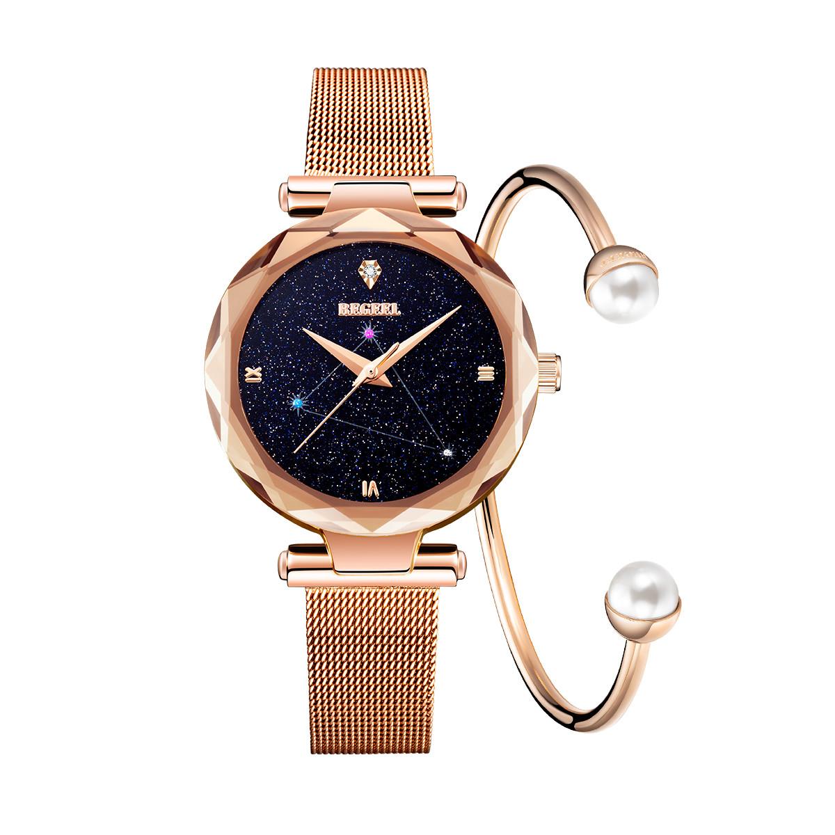 宾爵宾爵新款网红手表进口机芯精钢防水女士手表百搭学生表B945L2B2B
