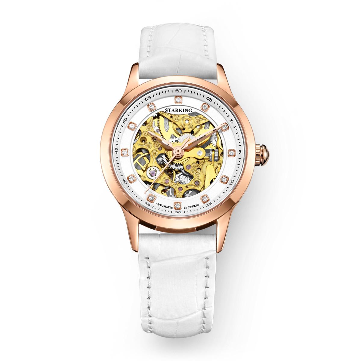 星皇星皇女表双面镂空全自动机械腕表镶钻时尚潮流机械女士手表AL0188RL11