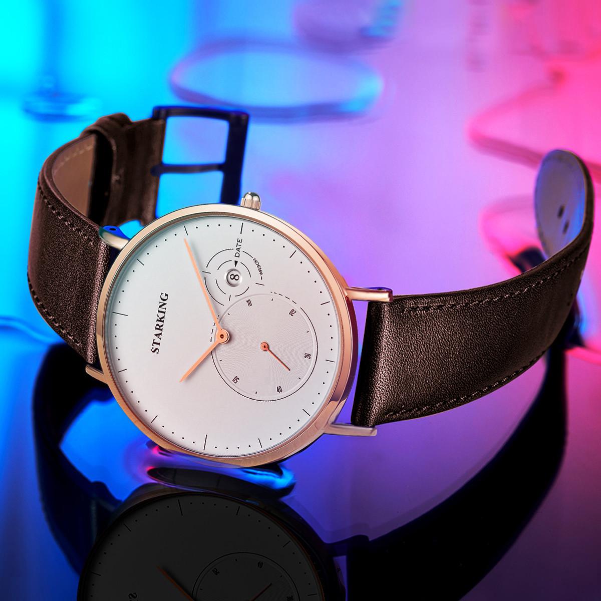 星皇星皇男士手表时尚休闲商务防水百搭经典超薄石英表男士手表TM0917RL91