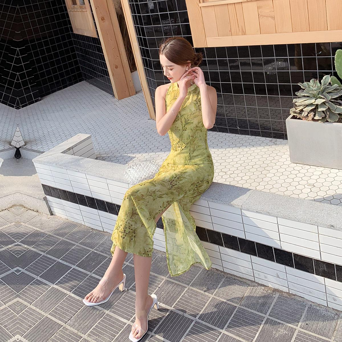 jkjs新式旗袍年轻款中国风夏少女改时尚民国风改良女装日常复古连衣裙JK9046334