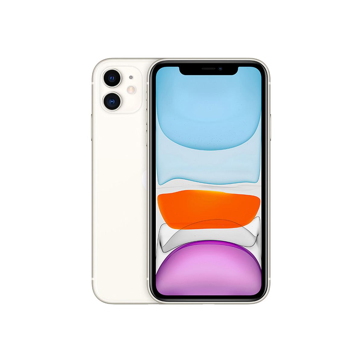 苹果iPhone 11【壳膜+懒人支架指环扣套餐】 双卡双待全网通 4G手机DFXYD-iPhone 11白色