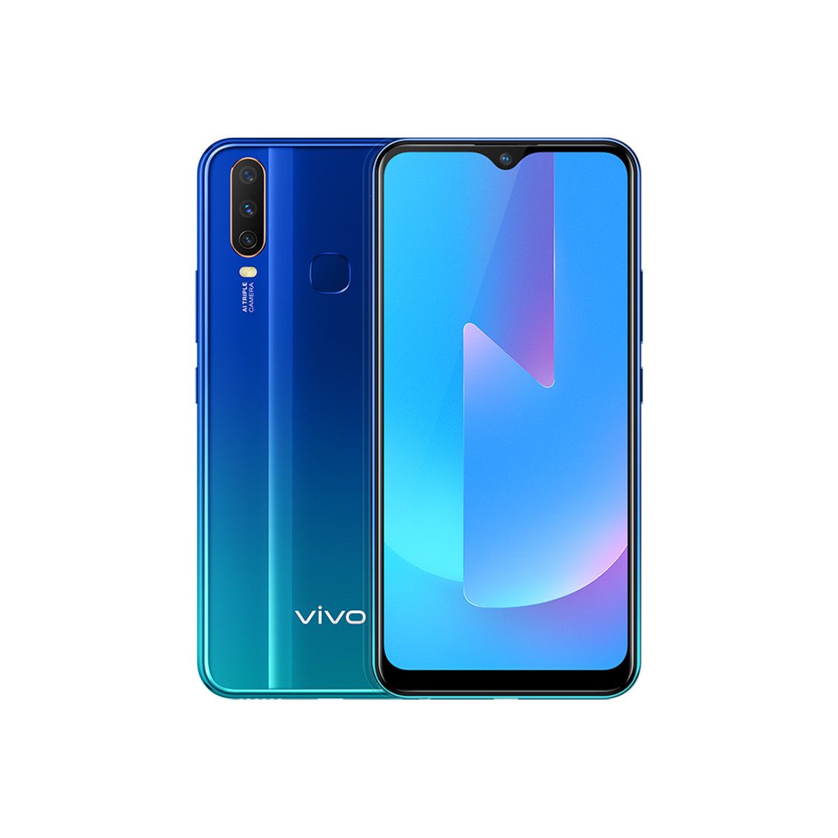 vivovivo U3x 5000mAh大电池千元拍照智能手机U3x 深湖蓝  (6+64G)  多套餐J