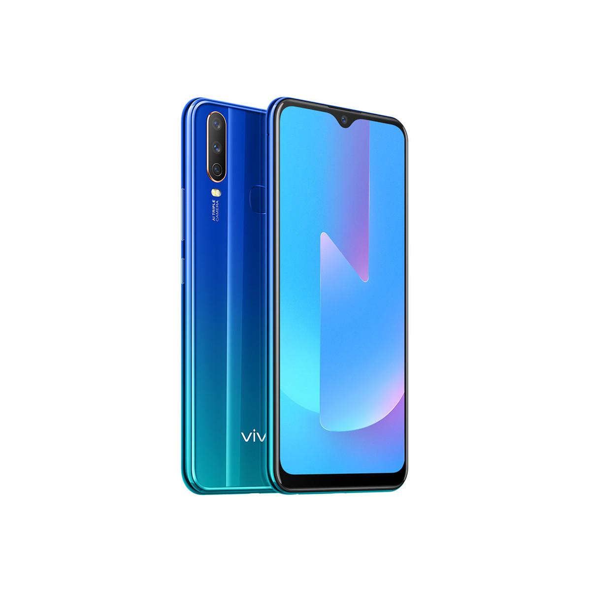 vivoU3X【爆品专享】大屏大电池三摄AI拍照闪充手机U3X(64G+4G)-深湖蓝