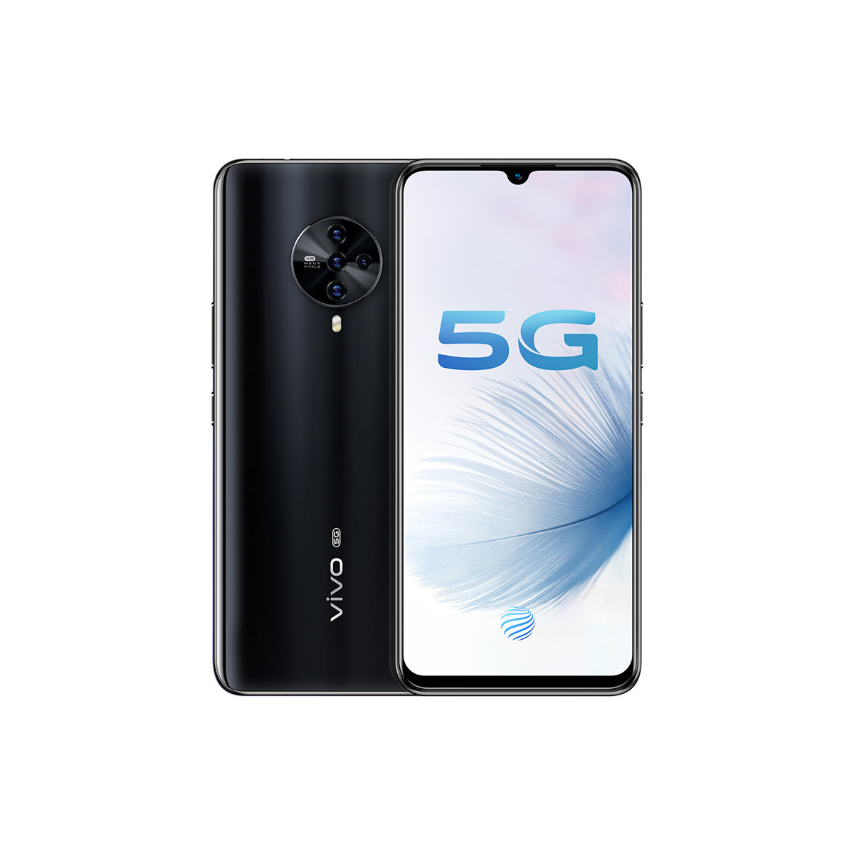 vivovivo【手环耳机套餐】S6双模5G 4800W超级四摄拍照手机S6-8G-128G-爵士黑
