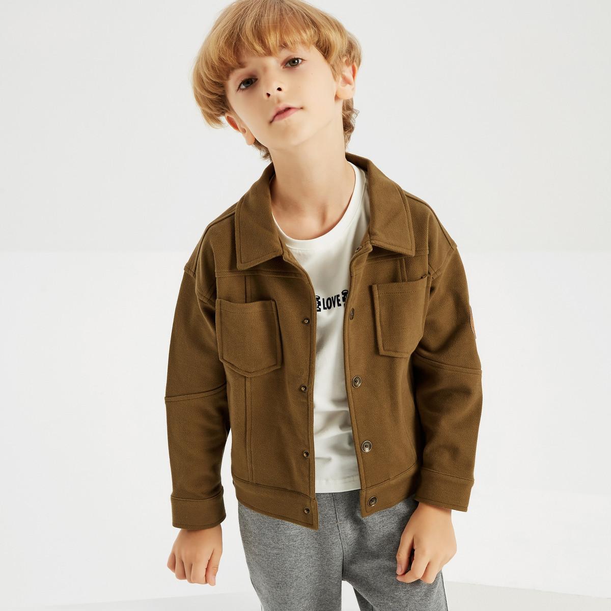 MECITY KIDS米喜迪mecity童装中大童外套男童卫衣秋装茄克式开衫50407350