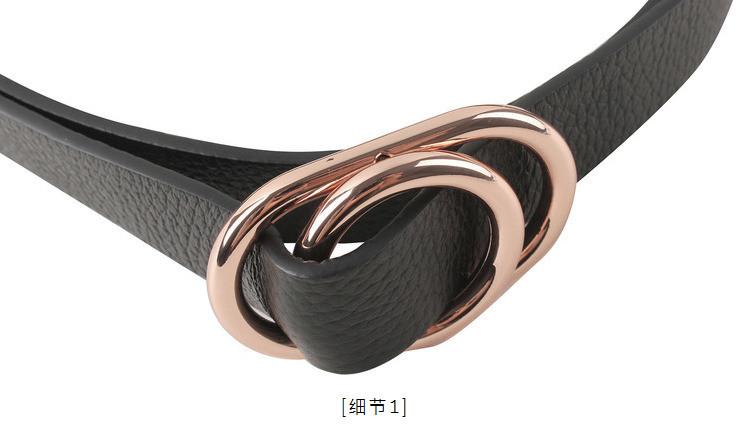 金属圆环牛皮腰带