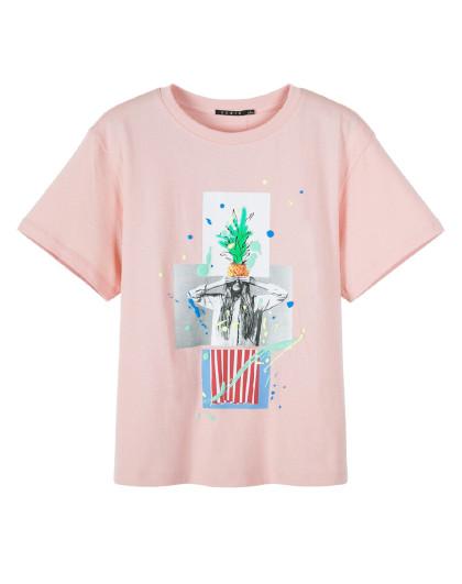森马2019夏季新款印花ins洋气纯棉上衣港风韩版短袖t恤女图片