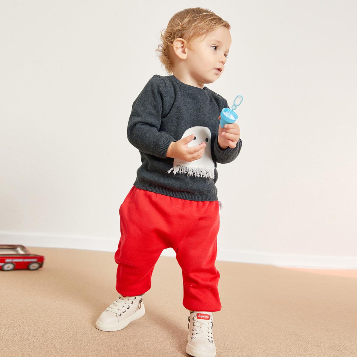 巴拉巴拉巴拉巴拉女宝宝毛衣2018冬季新款套头婴儿毛衣儿童线衫针织衫男280341821860015