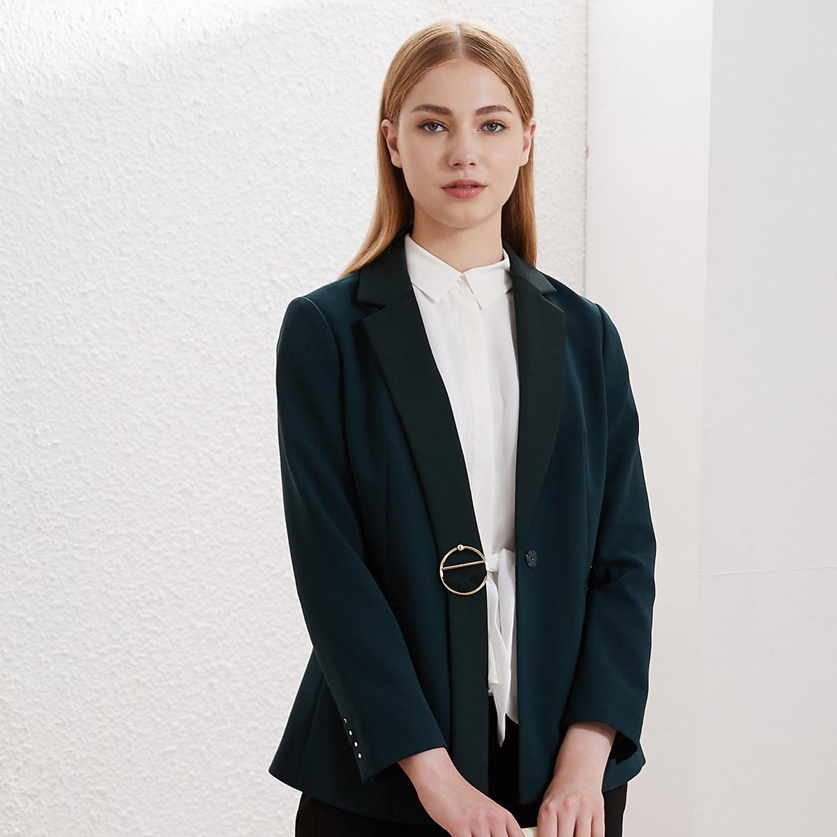 卡迪黛尔卡迪黛尔2019秋季新款洋气西装外套女韩版高腰修身显瘦C1AHG131307