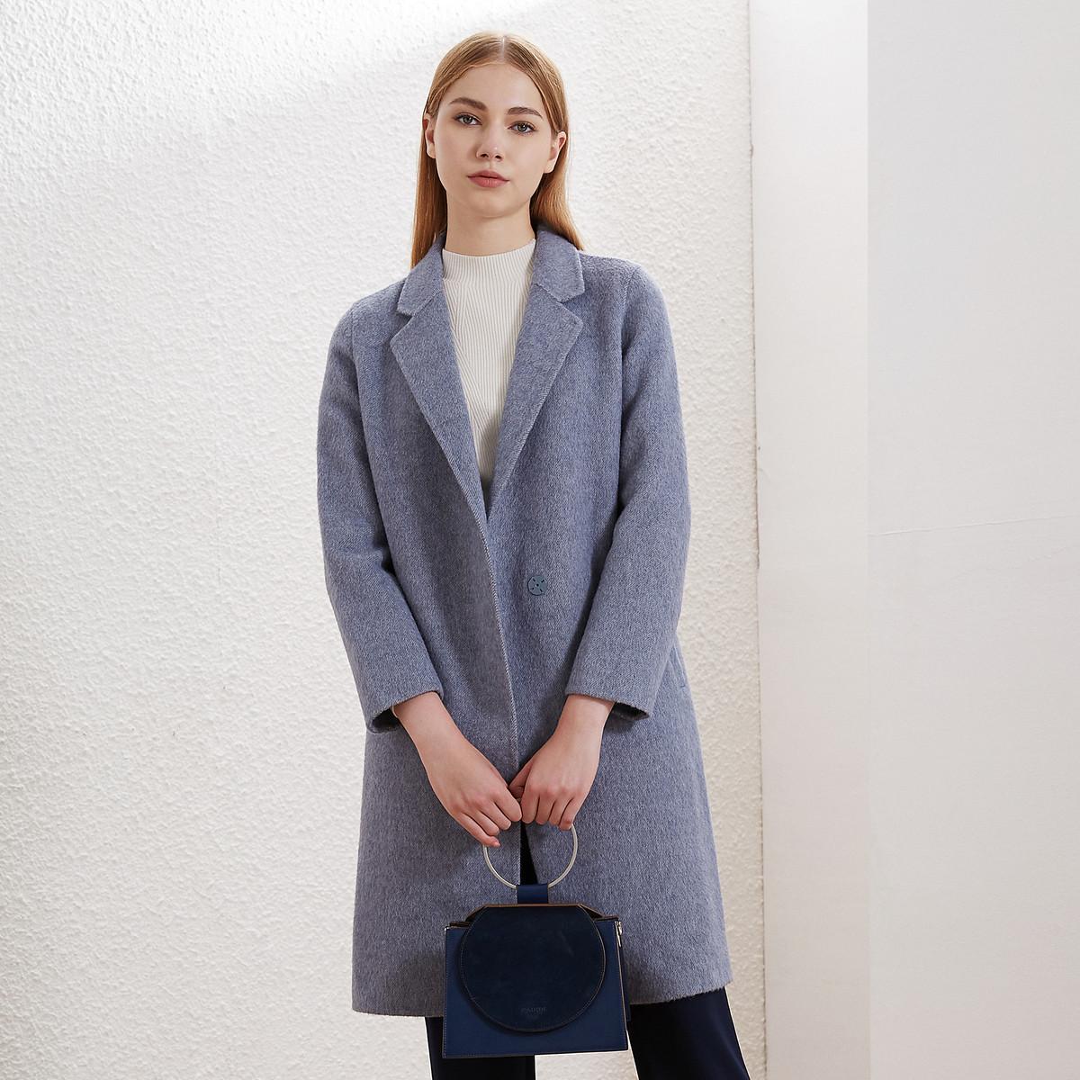 卡迪黛尔卡迪黛尔2019秋冬季中长款高腰羊毛呢外套女韩版高腰宽松显瘦C1AGG911802