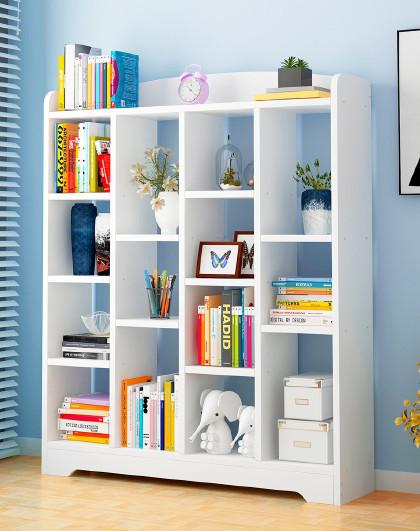 简易落地书房收纳架储物架手工diy组装客厅隔断书架