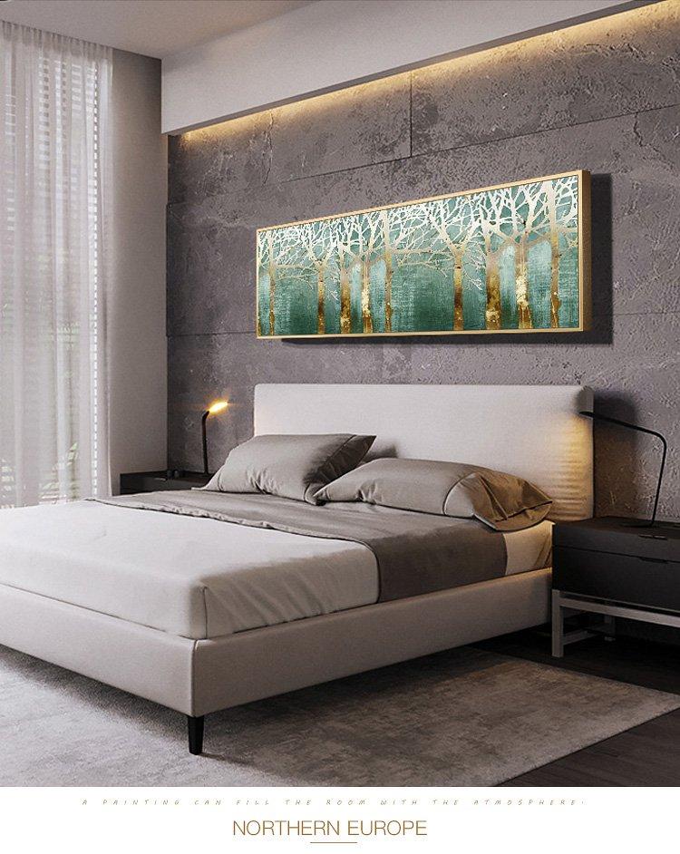 欧式客厅装饰卧室床头壁画餐厅挂画风景墙画温馨抽象横幅装饰画