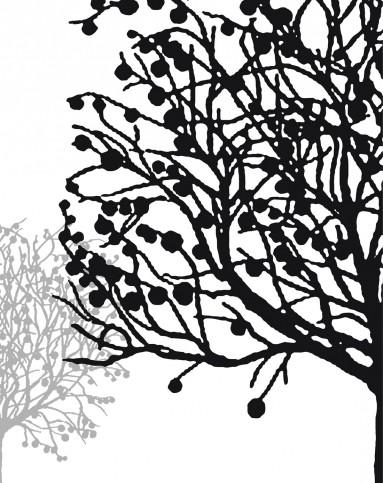 黑白抽象装饰画 幸运树