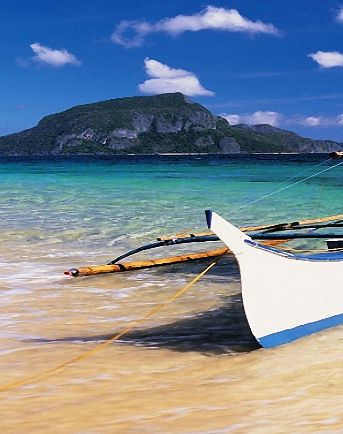 紫色晨曦风景装饰画 海边码头
