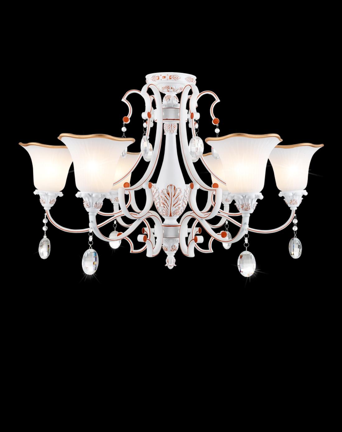 光印灯饰专场现代欧式风格田园风水晶吊灯适用1069p