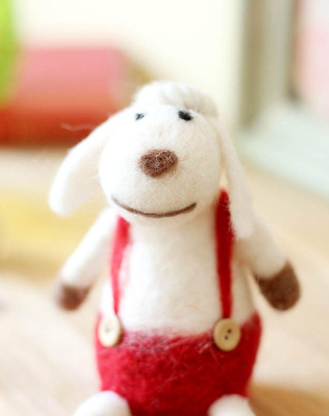 手工羊毛毡小羊两件套
