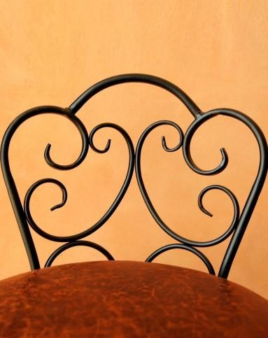 欧式牛皮铁艺椅子图片