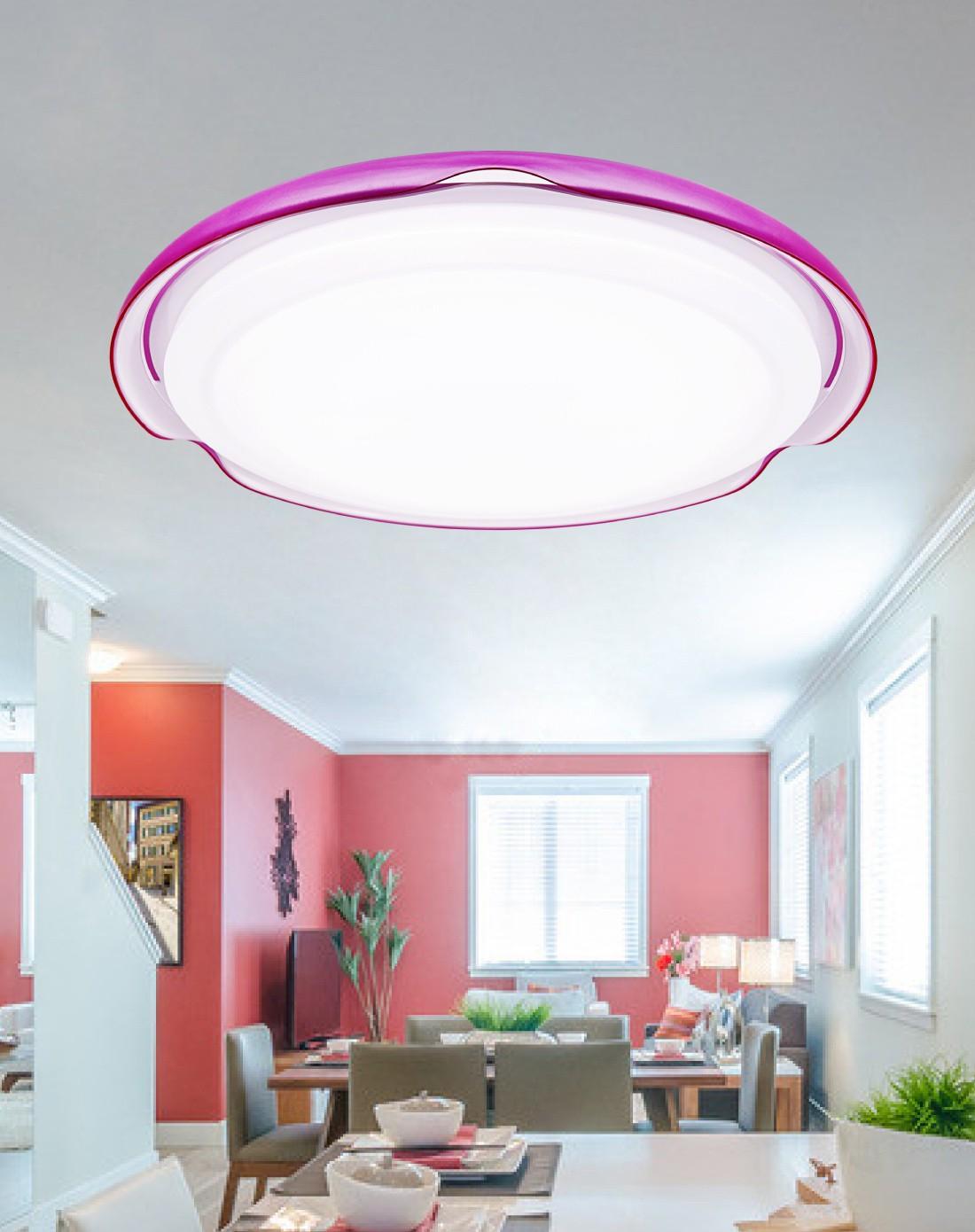 20w环航粉色圆形led家居吸顶灯