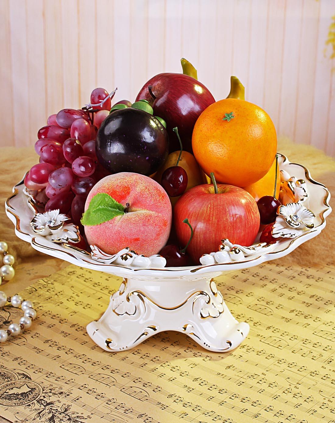 朵兰舍doolansvip首发-欧式陶瓷描金草莓果盘jc10713图片