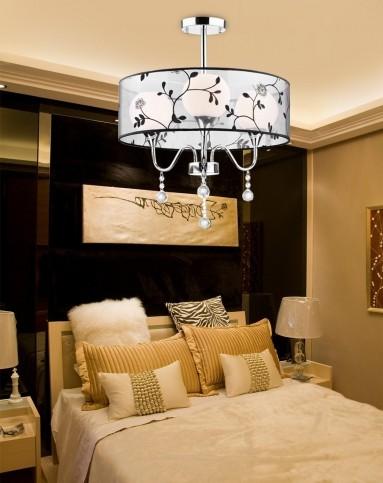 黑白简约现代卧室客厅吸顶灯