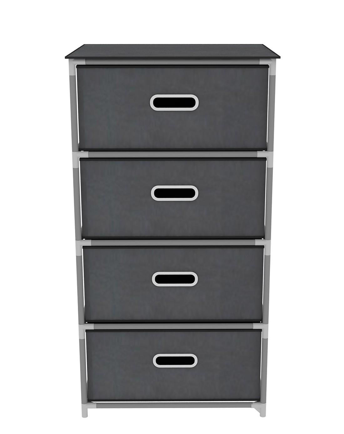 家世比homebi家具专场四层组装式床头柜银灰色hby104