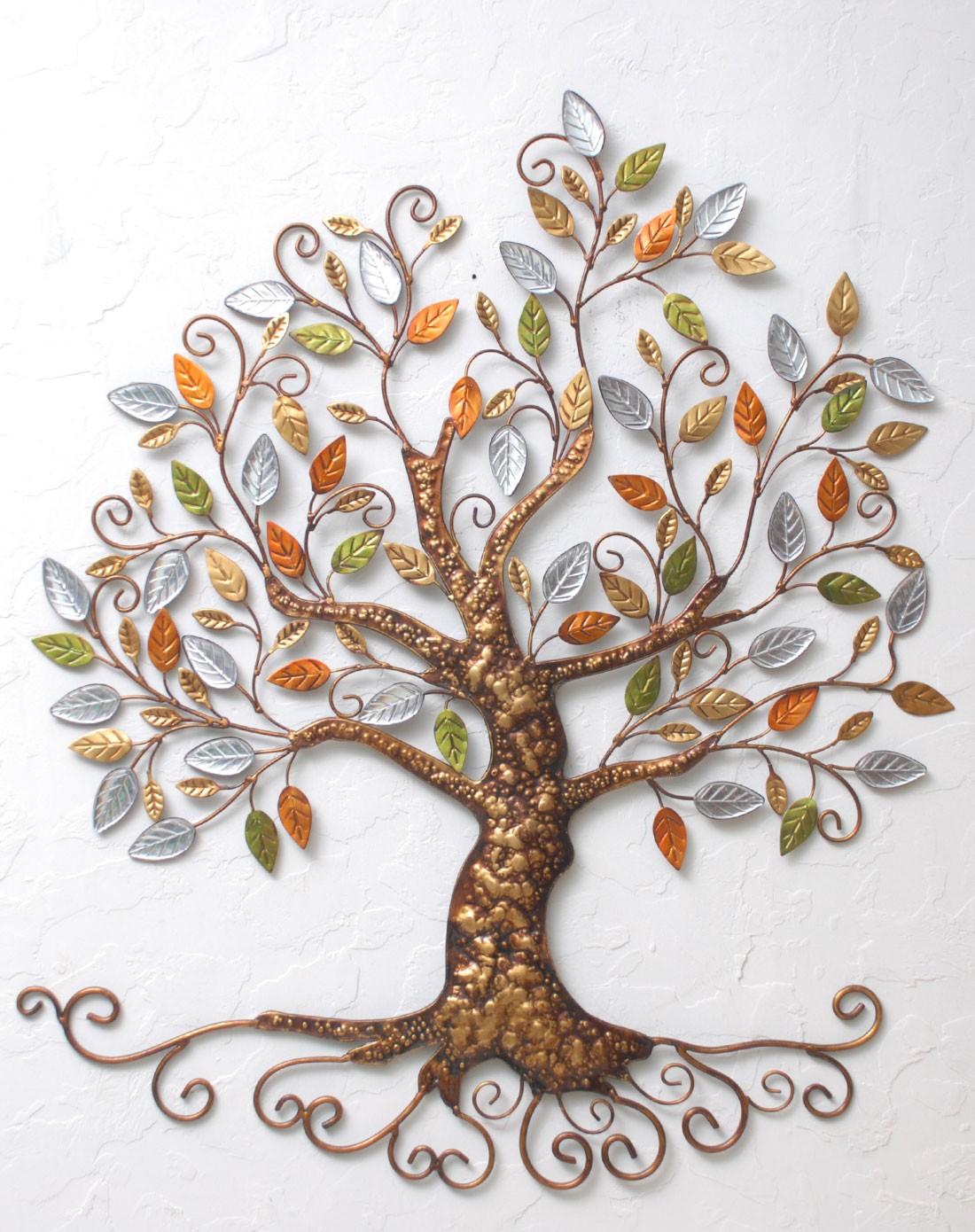 铁艺发财树墙面装饰品财源滚滚-全手工品图片