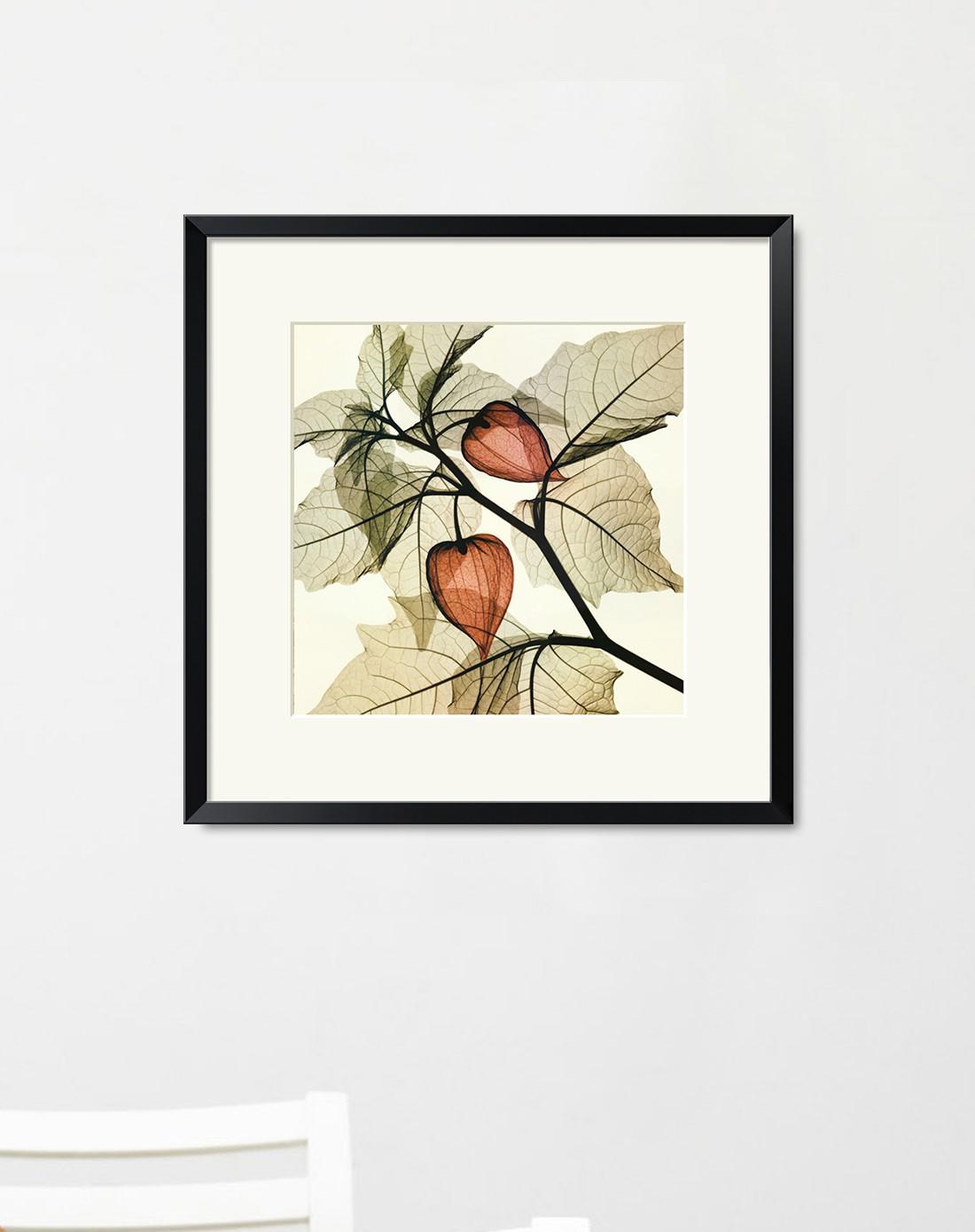 64*64cm黑框灯笼现代简约客厅装饰画