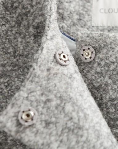 灰色文艺小清新百搭短款外套