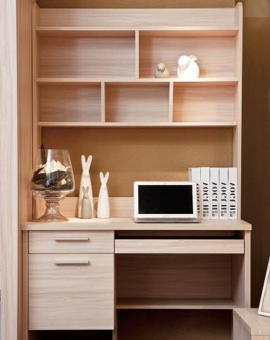 书柜书桌直角电脑桌组合图片