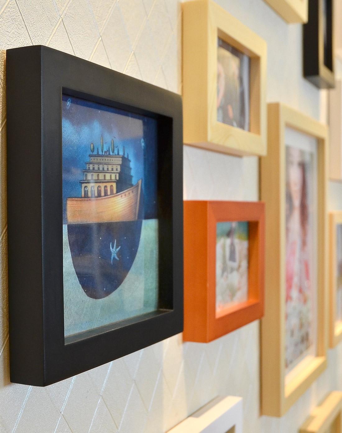 20框适合结婚照的照片墙黑白原胡组合