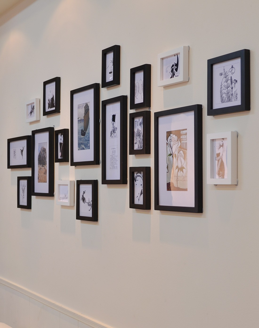 北欧风格大墙面照片墙组合