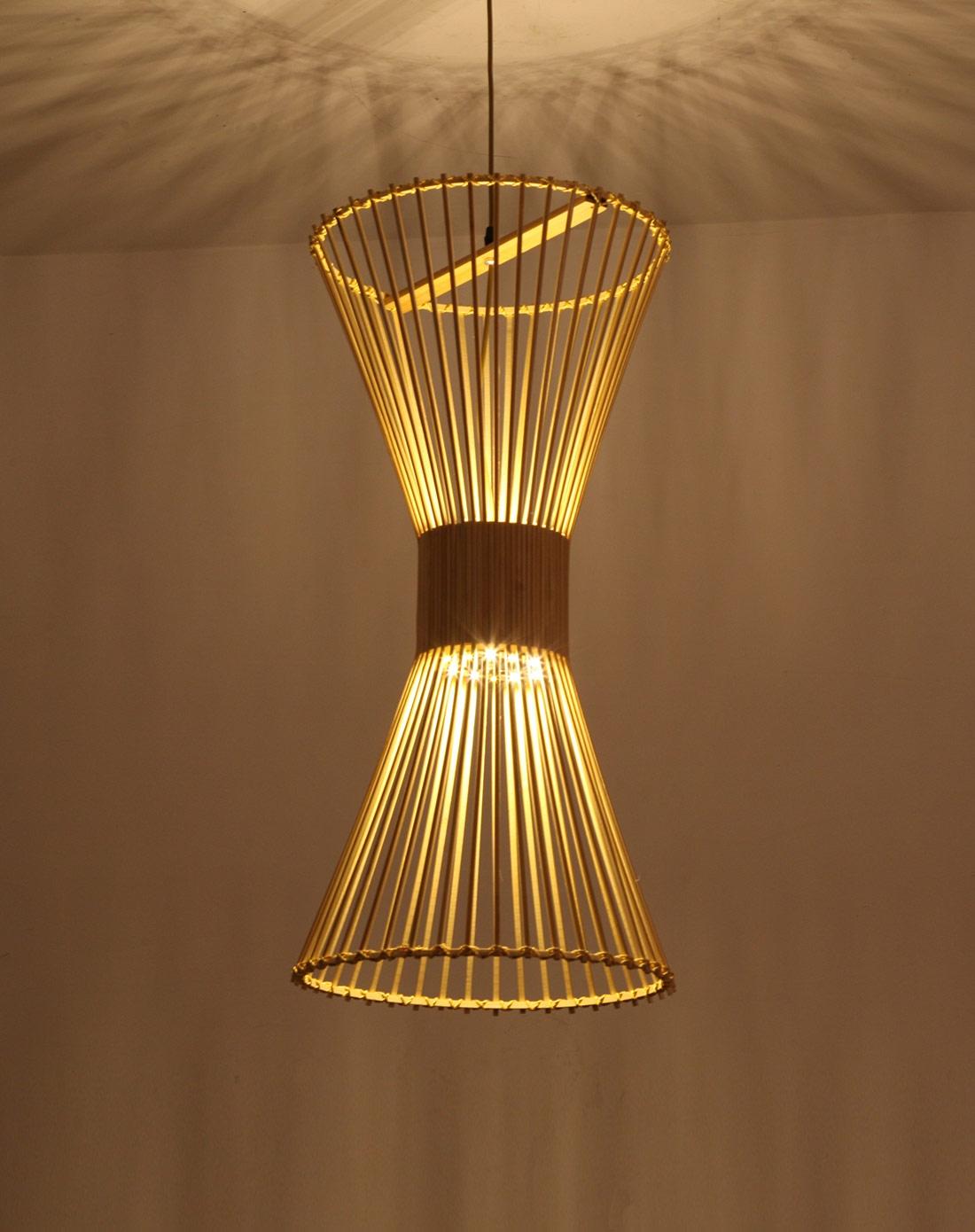 比月灯饰专场比月中式客厅田园创意竹编吊灯3231by图片