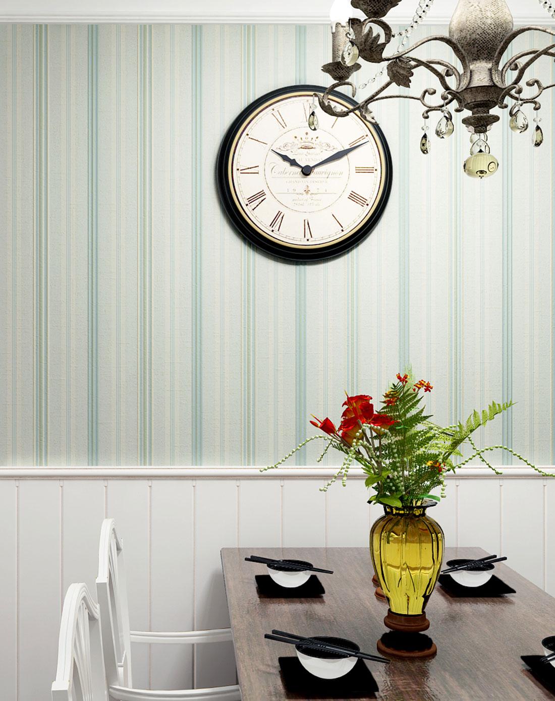 浅蓝美式简约大气纯纸墙纸图片