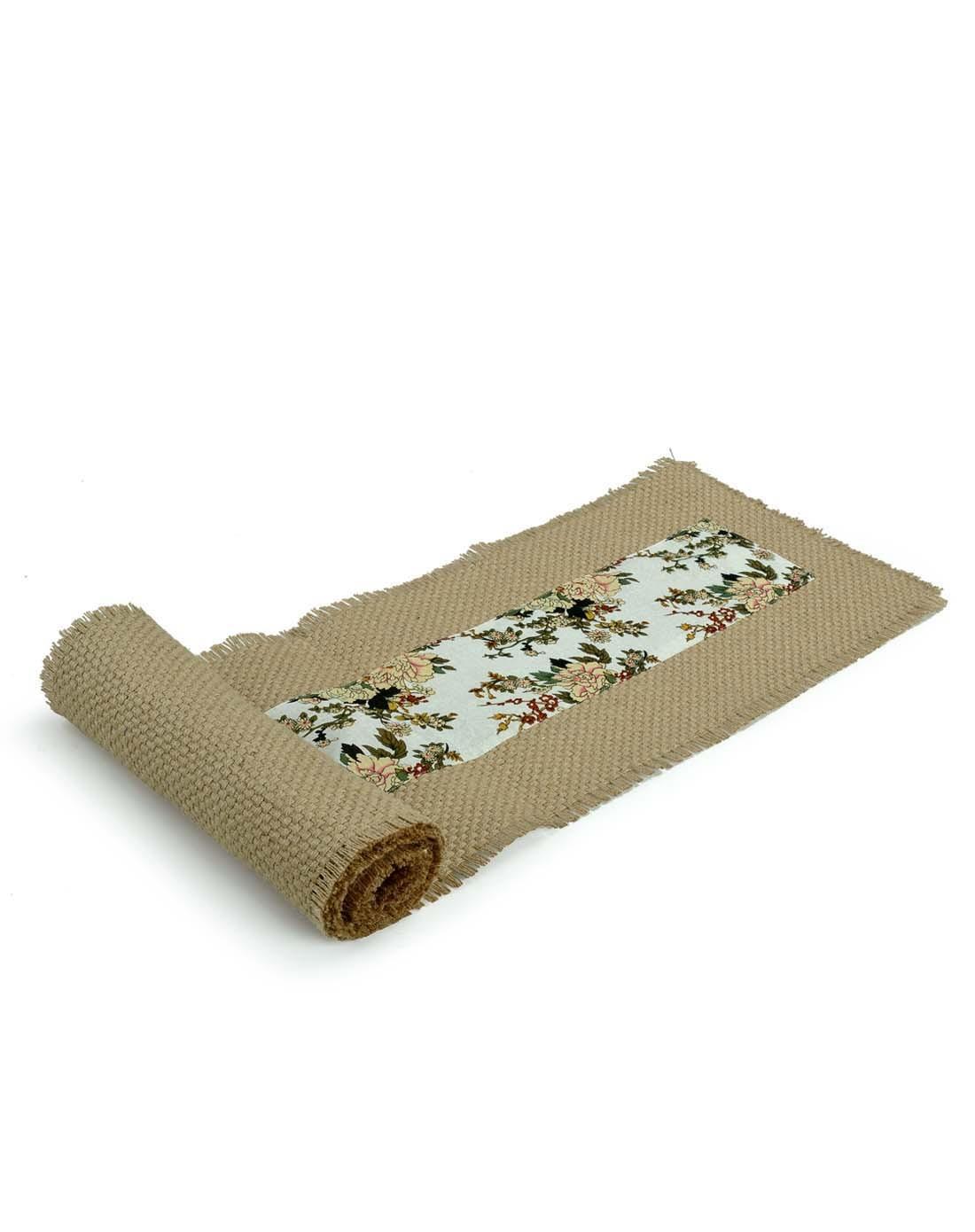 繁花似锦棉麻布艺茶垫