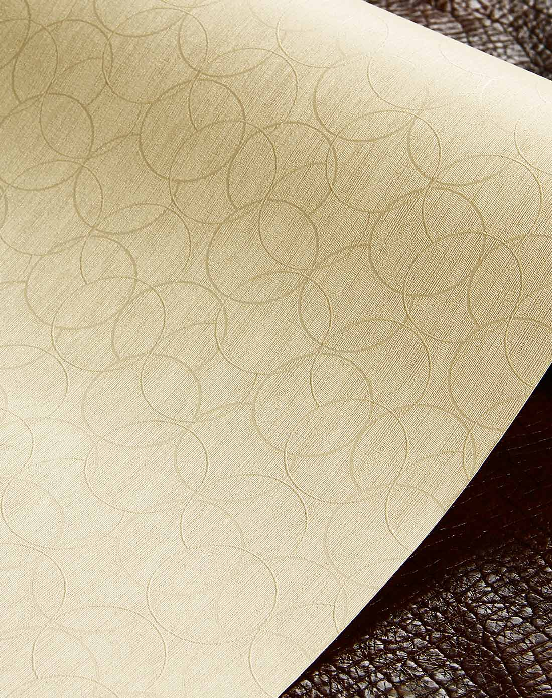 金黄色现代简约圈圈pvc墙纸