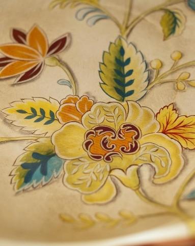 玛格丽特陶瓷手绘花卉鸟收纳盘 果盘