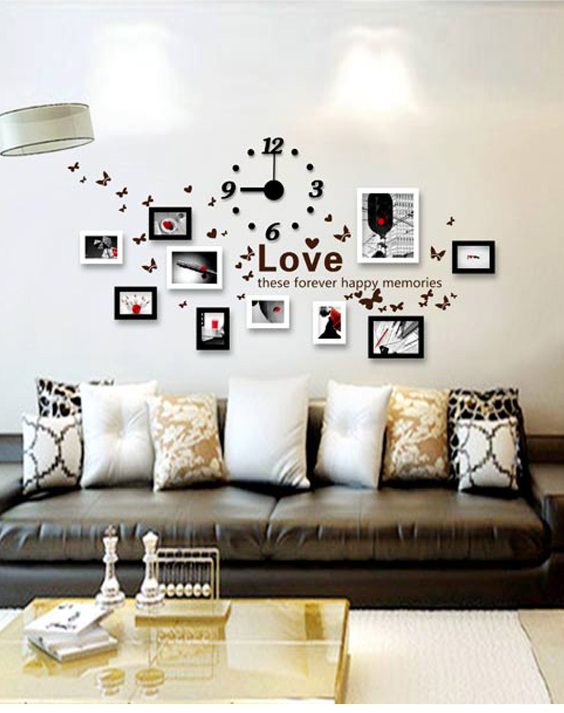 家逸jiayi 韩式木艺照片墙组合背景墙装饰相框tf721zt c款